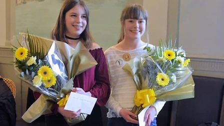 Junior attendants Chloe Showers and Leah Banning. Photo: Andreas Yiasimi