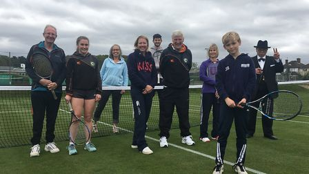 Players at Cromer tennis club have celebrated opening the grass courts for the summer with a visit f