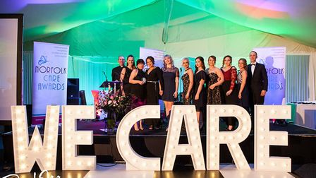 The team won Excellent in person-centred care and support at the Norfolk Care awards this year. Pict