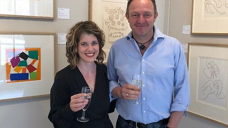 James and Rachael Sparshatt. owners of the Capital Culture Gallery in Coltishall, which is hosting a