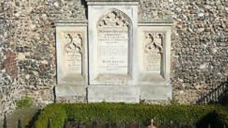 Sir Humphry Repton's grave in Aylsham churchyard. Picture: supplied by Rev Andrew Beane