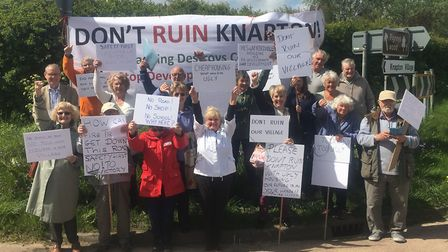 Villagers in Knapton have been campaigning against the 14 affordable homes. Picture: Knapton Parish
