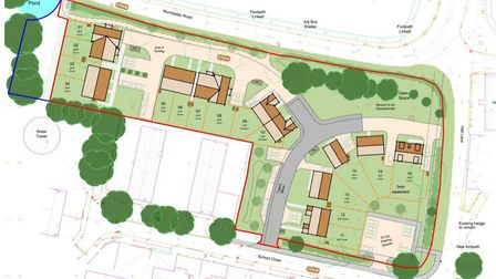 An overhead plan of the proposed development in Knapton. Image: Design and Access Statement by Richa