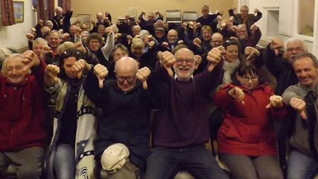 Villagers in Knapton have been campaigning against the 14 affordable homes. Picture: Peter Kaye
