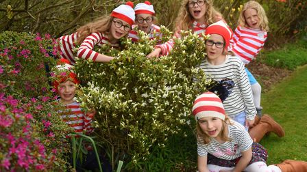Wally's at the Where's Wally event at Stody Lodge Gardens. Clockwise from left, Alex Dyer, six; Aggi