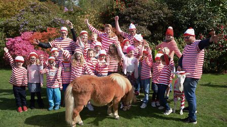All the Wally's at the Where's Wally event at Stody Lodge Gardens. Picture: DENISE BRADLEY