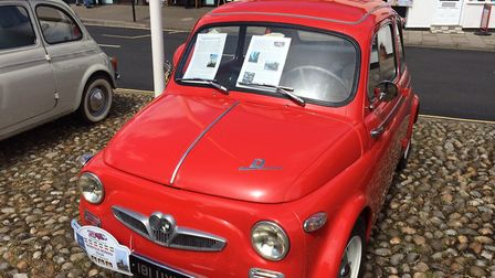 Classic Fiat 500s in Holt town centre. Pictures: David Bale