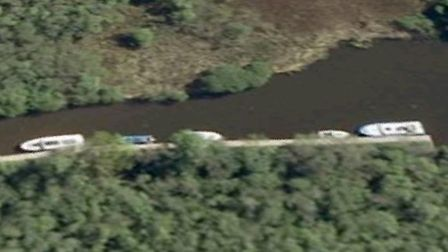 Crews and rescue boats were called to a fire on the River Ant, near Sutton Broad. Picture: Google Ma