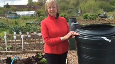 Sue Metcalf at the allotments in Aldborough, Norfolk. Pictures: submitted by Sue Metcalf