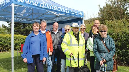 North Norfolk branch Guide Dog Fundraising Group. L-R, Chris Waller, Shaun Purbrick, Mickey Sewell,