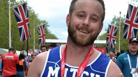 Mitchell Hare, who raised £4,500 for mental health charity Mind, said the experience left him feelin