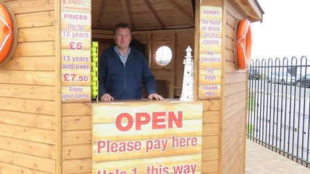 Victor Gray at the new Crabstix adventure golf course at Cromer's Evington Gardens. Picture: HUBBA R