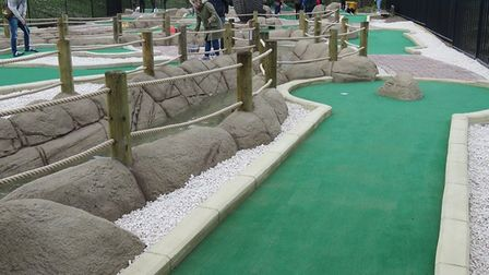 The new Crabstix adventure golf course at Cromer's Evington Gardens. Picture: HUBBA ROBERTS