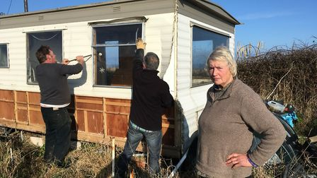 Bryony Nierop-Reading has had to demolish her clifftop home in Happisburgh in 2017 to comply with a