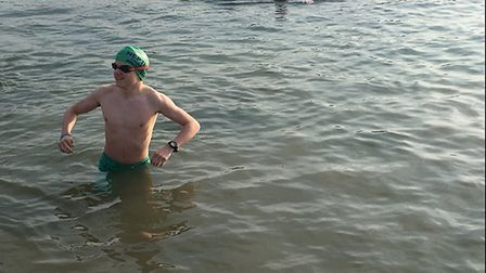 Charlie Goddard, from Leicestershire, who will train in Cromer ahead of a cross-Channel swim for cha