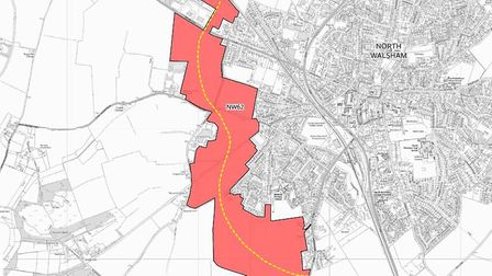 The north Norfolk draft local plan proposes a western extension to North Walsham of up to 1,800 home