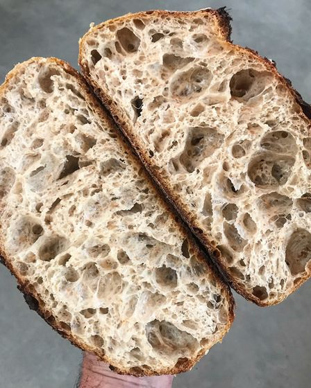 The sourdough. Pictures: supplied by Harriet Cooper.