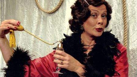 Catherine Terry playing Mona in Dames at Sea at Sheringham in 2008. Ms Terry is returning to Shering
