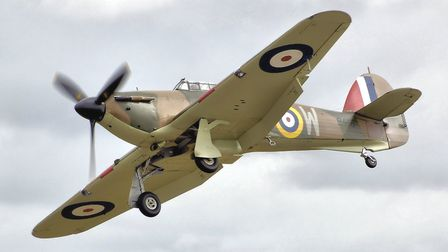 A Hawker Hurricane. The legendary fighter jet inflicted even more losses to the Luftwaffe than its m