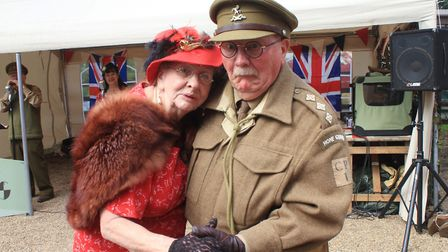 Captain Mainwaring and Mrs Fox take a turn on the dance floor at last year's Dad's Army Live! event