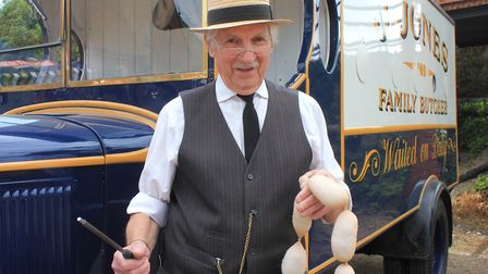 Jones the butcher, who will be appearing at Dad's Army Live! at the North Norfolk Railway on May 26