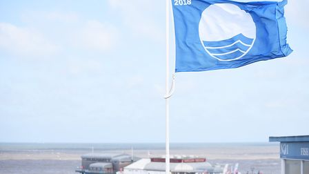 Cromer beach has again been awarded the blue flag status for 2019. Picture: Ian Burt