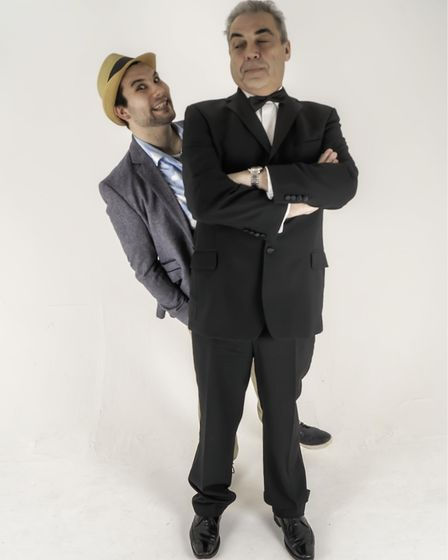Left, Joseph Betts as Freddy and Peter Howell as Lawrence in Cromer and Sheringham Operatic Society'