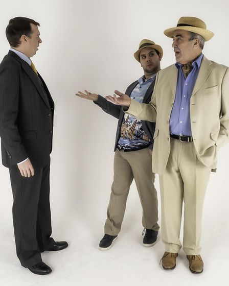 From left, Matt Scantlebury as Andrew, Joseph Betts as Freddy and Peter Howell as Lawrence in Cromer