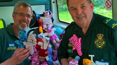 George Cooper and Tim Thirst, group coordinator, of Stalham Ambulance First Responder group with a n