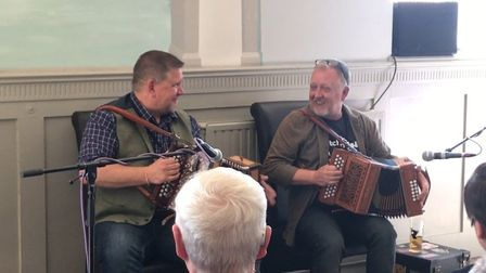 Folk music at the Cliftonville Hotel during the Cromer folk festival. Picture: Ella Wilkinson
