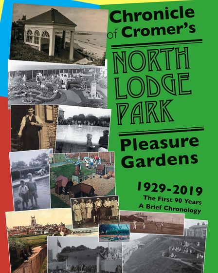 The cover of the 28pp A4 booklet to be launched at Cromer North Lodge Park's 90th birthday party on