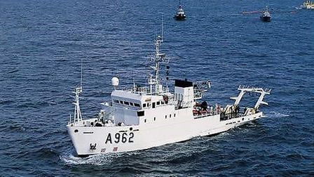 The RV Belgica, which an international team of scientists is using to explore the prehistoric landsc