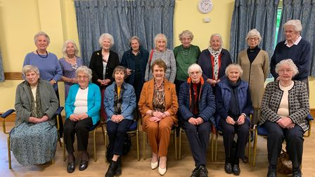 Members of the North Walsham Girls High School class of 1947 meeting for their 2019 reunion at the N