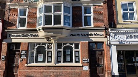 The EDP/North Norfolk News office in Church Street, Cromer, which is closing on May 17, 2019. Pictur