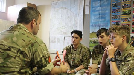 The Cromer Army Cadet Force (ACF) detachment held a reopening ceremony at Cromer Academy. Photo: Lt