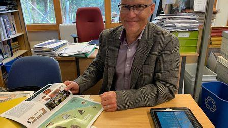 North Norfolk District Council head of economic and community development Rob Young with material fr