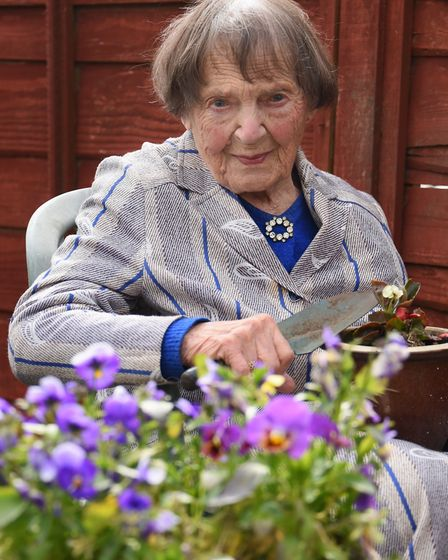 Gertrude Raven of Cawston is about to celebrate her 103rd birthday, and still loves to do the garden