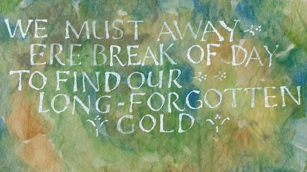 Calligraphist Carole Wilshaw's work is on display at North Norfolk District Council. Photo: NNDC