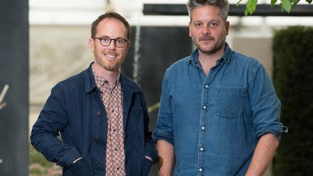 Duncan Cargill, right, with co-designer Colm Joseph. Pictures: supplied by Claire Johnson