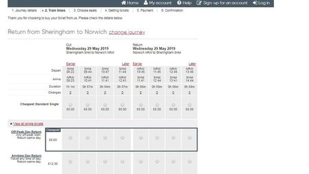 Rail fares between Sheringham and Norwich have gone up. Image: Greater Anglia