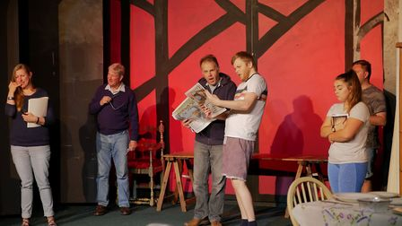 Rehearsal photographs from Aldborough Players'' new production. Pictures: supplied by Jane Maguire.