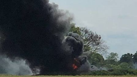 Two fire engines were needed to extinguish a blaze in Hainford. Photo: Matthew Knowles
