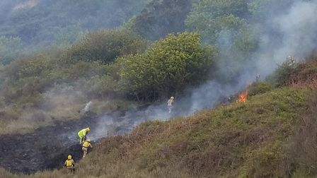 A fire broke out near Cromer Lighthouse. Picture: FRAN WHITING