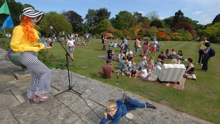 Part of the fun at the Stody Rainbow Garden Party. Picture: DAVID CLEVERDON