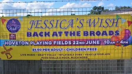 Jessica's Wish Back at the Broads. Banner. Pictures: submitted by Susan Goreham