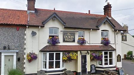 The Duke's Head in Corpusty has been fined £679 for failing to have a TV licence. Photo: Google Stre