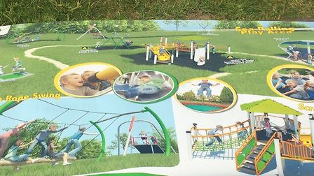 Plans for new £60,000 Sea Palling playing ground. Pictures: David Bale