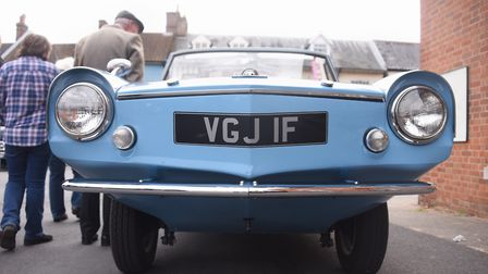 A 1967 Amphicar 770, factory produced in Germany, one of the vehicles on show at the Reepham Classic
