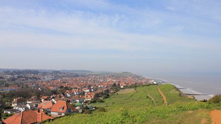 The view from the top of Beeston Hill, which is one of three natural peaks included in Sheringham Ca