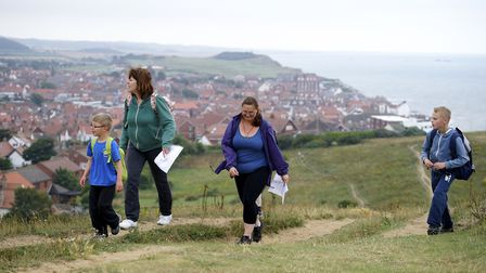 Families taking part in a previous year's Sheringham Carnival Three Peaks Challenge.Picture: ARCHANT